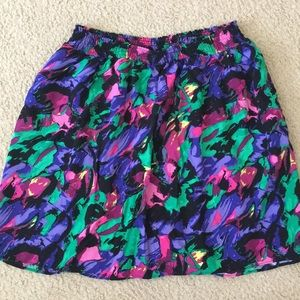 Mossimo skirt with painted pattern look